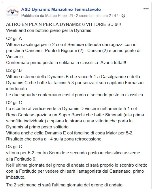Commento 6ag